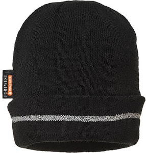 Portwest B023 - Knitted Hat Reflective Trim