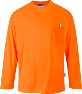 Portwest S579 - Long Sleeve Pocket T-Shirt