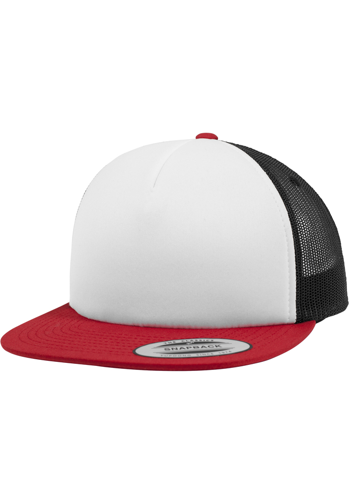 Flexfit 6005FW - Foam Trucker with White Front red/wht/blk