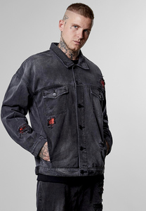 CS CS1013 - ALLDD Flanneled Trucker Denim Jacket