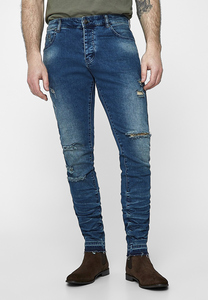 "CS CS1034 - Pantalon empilé denim ""Ian"" ALLDD"