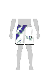CS CS1968 - CSBL Meaning Of Life Tie Dye Sweat Shorts white/blue