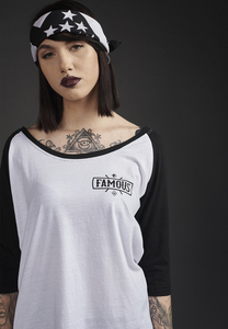 Famous FA024 - Ladies Chaos Patch Raglan Tee