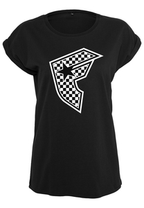 Famous FA044 - Ladies Checker Badge Tee