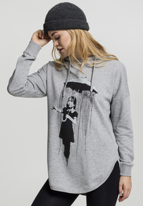 Merchcode MC099 - Ladies Brandalised - Banksy´s Graffiti Umbrella Oversized Hoody