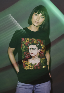 Merchcode MC443 - Camiseta para mujer Frida Kahlo Retrato