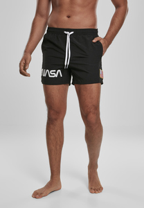 Mister Tee MT1162 - NASA Worm Logo Swim Shorts