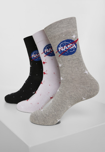 Mister Tee MT1206 - Pack 3-Pares meias NASA Insignia