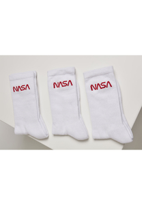 Mister Tee MT2021 - NASA Worm Logo Socks 3-Pack