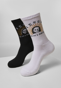 Mister Tee MT2076 - Jesus Is My Bro Socks 2-Pack
