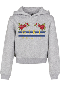Mister Tee MTK007 - Kids Girl Power Cropped Hoody