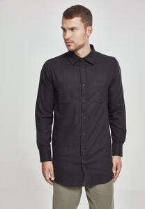 Urban Classics TB1001 - Side-Zip Long Checked Flanell Shirt