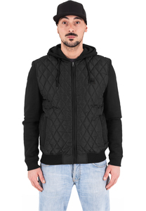 Urban Classics TB1149 - Hooded Diamond Quilt Nylon Jacket