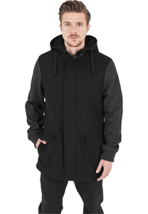 Urban Classics TB1161 - Contrast Hooded Wool Jacket