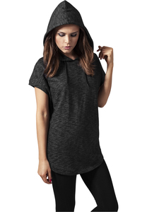 Urban Classics TB1209 - Ladies Melange Sleeveless Terry Hoody