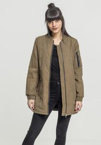 Urban Classics TB1218 - Ladies Peached Long Bomber Jacket