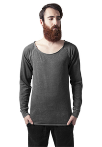 Urban Classics TB1254 - Long Burnout Open Edge Crewneck