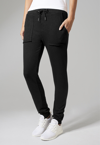 Urban Classics TB1312 - Pantaloni donna Fitted Slub Terry