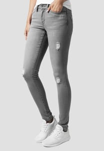 Urban Classics TB1362 - Pantaloni donna Ripped Denim