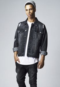 Urban Classics TB1438 - Ripped Denim Jacket