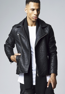 Urban Classics TB1440 - Leather Imitation Biker Jacket