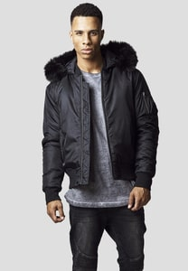 Urban Classics TB1456 - Hooded Basic Bomber Jacket
