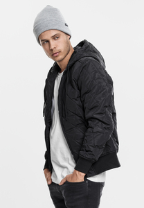 Urban Classics TB1466 - Hooded Big Diamond Quilt Jacket