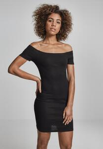 Urban Classics TB1501 - Ladies Off Shoulder Rib Dress