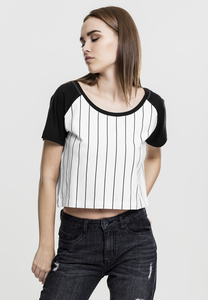 Urban Classics TB1507 - T-shirt crop-top pour dames Baseball