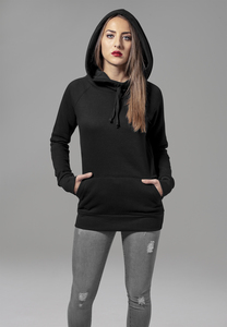 Urban Classics TB1526 - Ladies High Neck Raglan Hoody