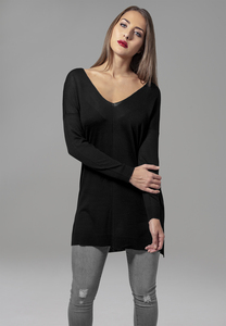 Urban Classics TB1534 - Ladies Fine Knit Oversize V-Neck Sweater