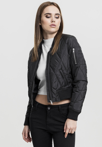 Urban Classics TB1546 - Ladies Diamond Quilt Short Bomber