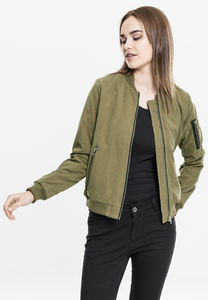 Urban Classics TB1551 - Ladies Peached Bomber Jacket