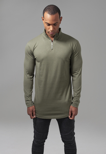 Urban Classics TB1569 - Long Shaped Turtle Zip Longsleeve
