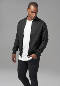 Urban Classics TB1622 - Blouson Imitation Leather Raglan