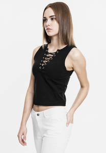 Urban Classics TB1631 - Top corto Lace Up para mujer