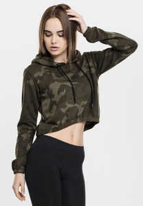 Urban Classics TB1636 - Ladies Camo Cropped Hoody