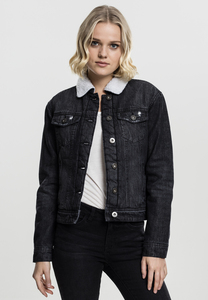 Urban Classics TB1740 - Ladies Sherpa Denim Jacket