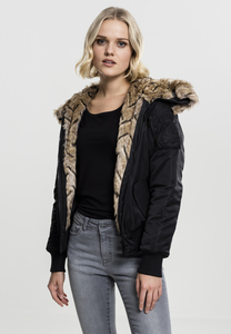 Urban Classics TB1759 - Ladies Imitation Fur Bomber Jacket