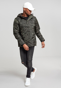 Urban Classics TB1802 - Padded Camo Pull Over Jacket
