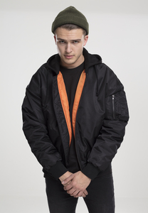 Urban Classics TB1808 - Giacca Hooded Oversized Bomber
