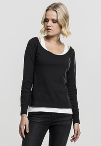Urban Classics TB1823 - Ladies Two-Colored Longsleeve