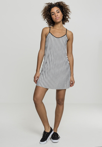 Urban Classics TB1943 - Ladies Striped Pleated Slip Dress