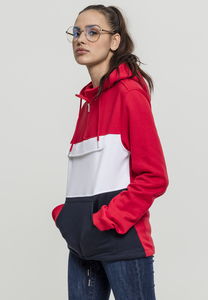Urban Classics TB1988 - Ladies Color Block Sweat Pull Over Hoody