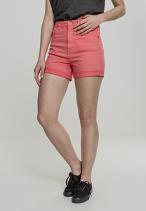 Urban Classics TB1999 - Damen-Highwaist-Stretch-Twill-Shorts