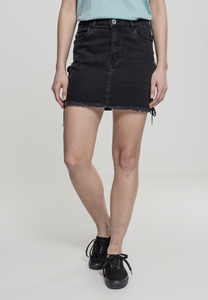 Urban Classics TB2002 - Ladies Denim Lace Up Skirt