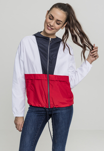 Urban Classics TB2010 - Ladies 3-Tone Oversize Windbreaker