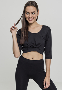 Urban Classics TB2041 - Ladies Active 3/4 Sleeve Cropped Top
