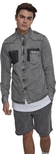 Urban Classics TB2086 - Denim Pocket Shirt