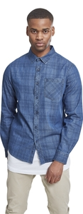 Urban Classics TB2198 - Printed Check Denim Shirt